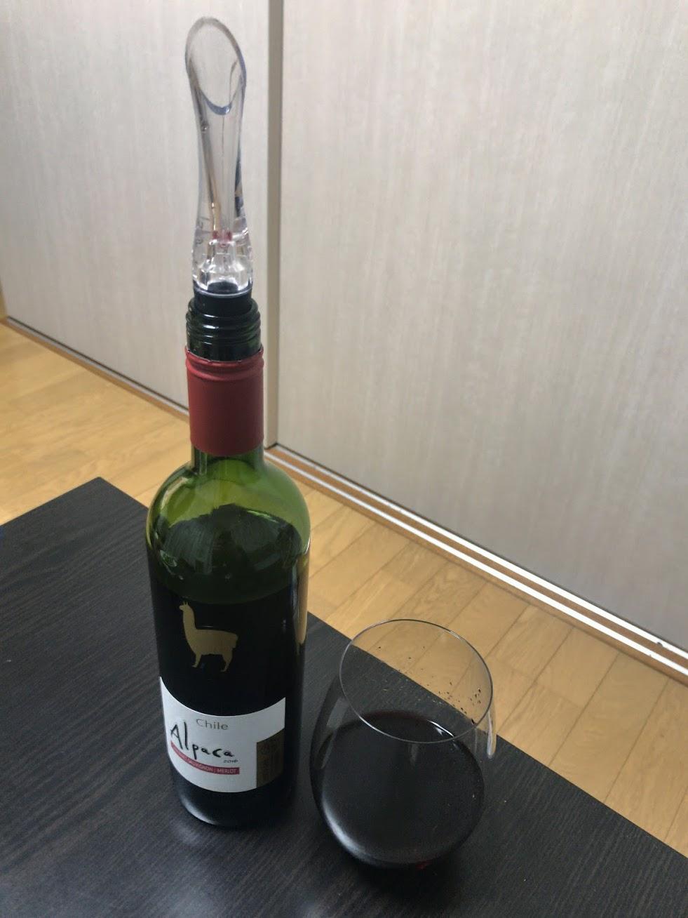 家で安い赤ワインを美味しく飲む方法 ポアラーとグラスを買いました