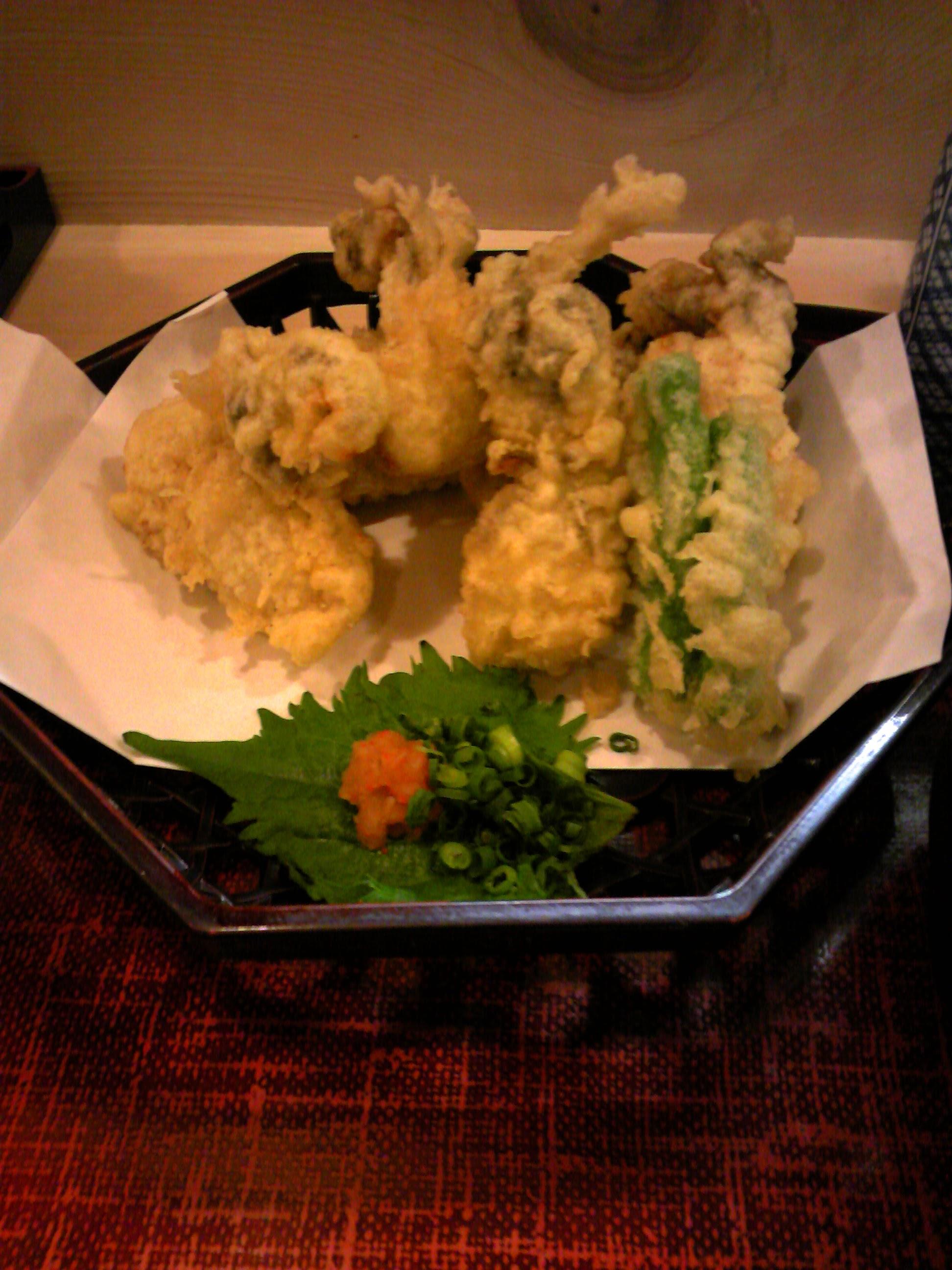 東京 浜町 よし梅 かきの天ぷら