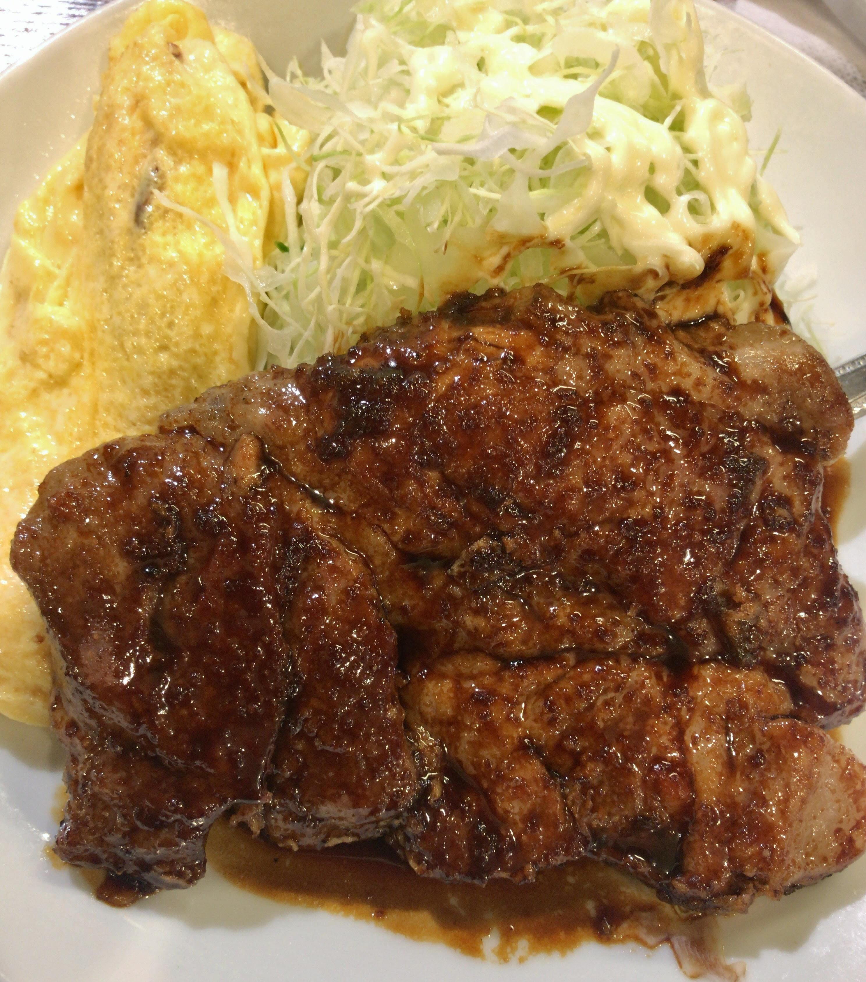 本町 サル食堂 トンテキ定食